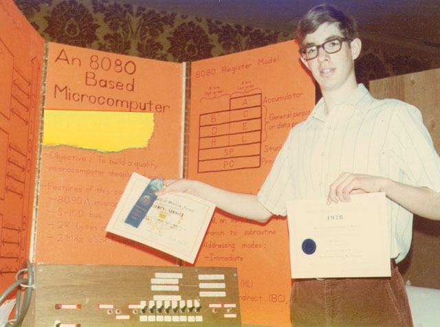 Donor 17 years old, showing science fair project